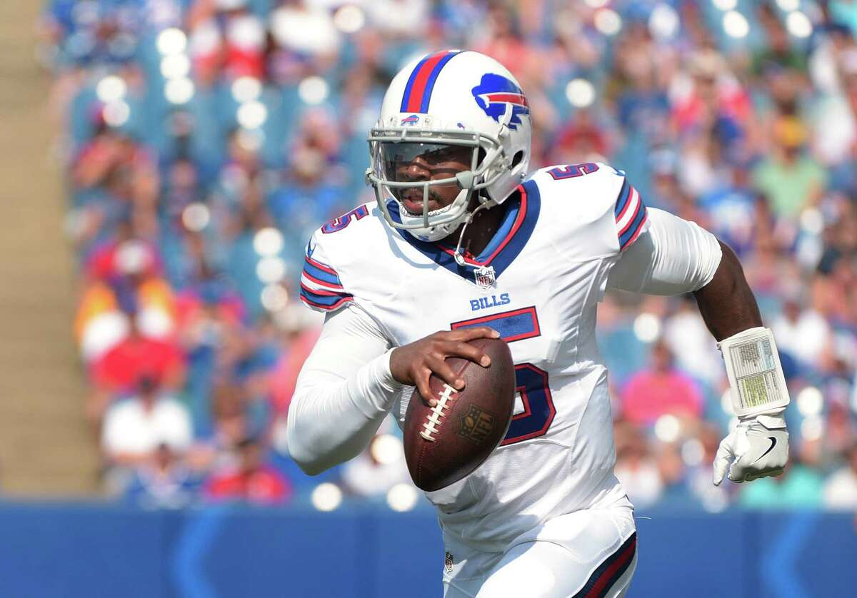 CANDIDATE FOR TRADE OR RELEASE Tyrod Taylor It looks like the Bills are not willing to pick up the option on Taylor's contract, which means without the unlikely scenario of them finding a trade partner, the Bills would release him. Taylor has been OK as a quarterback. Not terrible. Not great. The Texans probably wouldn't be willing to invest in that type of quarterback.