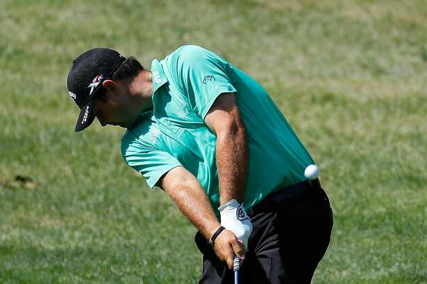 FARMINGDALE, NY - AUGUST 25:  Patrick Reed plays his second shot on the second hole during the first round of The Barclays in the PGA Tour FedExCup Play-Offs on the Black Course at Bethpage State Park on August 25, 2016 in Farmingdale, New York.  (Photo by Kevin C. Cox/Getty Images)