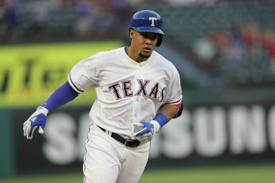 Former Astro Carlos Gomez has hit two home runs for the Rangers since joining them last week. He gets to face his old team for the first time since being released earlier this month. Photo: Ronald Martinez, Getty Images / 2016 Getty Images