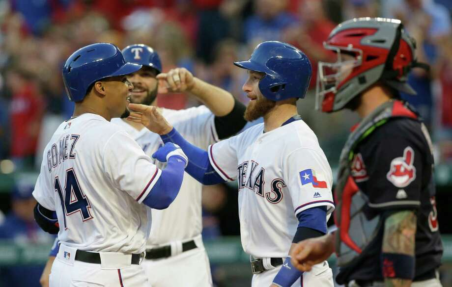 Ex-Astro Carlos Gomez cranks three-run homer in Rangers debut