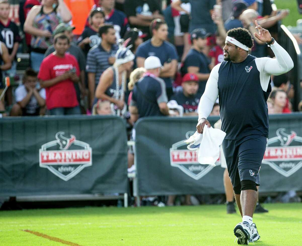 Texans tackle Duane Brown is aiming to be ready for the first game of the season after offseason surgery on a torn quadriceps tendon, but he is not yet cleared to play.