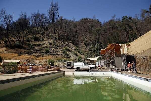 Construction at Harbin Hot Springs in Middletown, Calif., on Thursday, August 25, 2016.