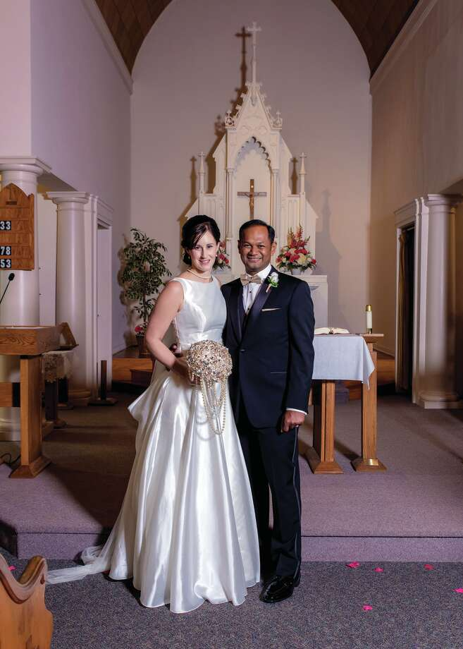 Amy Sue Polega and Karthik Palaniappan Photo: Submitted To The Tribune / Photos by Santino LLC
