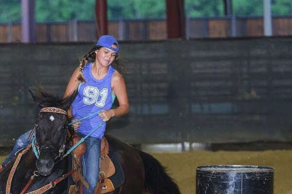 LC-M's Jourdyn Jaume will compete in barrel racing during the the Region 5 division of the Texas High School Rodeo Association (THSRA) event, beginning at 10 a.m. Saturday at Tin Top Arena 2, 4110 Old Peveto Road, in Orange County. (Photo provided by LC-M CISD)