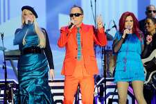 NEW YORK, NY - APRIL 14: The B-52s perform onstage at the 10th Annual TV Land Awards at the Lexington Avenue Armory on April 14, 2012 in New York City. (Photo by Andrew H. Walker/Getty Images)