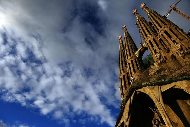 This photo taken Jan. 13, 2010 shows Antoni Gaudi's Sagrada Familia church, an unfinished Barcelona landmark in Barcelona, Spain.(AP Photo/Manu Fernandez)