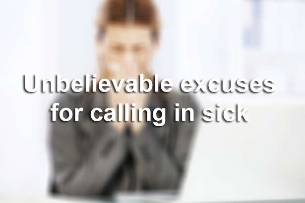 Working Americans often power through illness, advocates say, because the United States doesn't guarantee paid sick leave.    Some people, though, use their sick time questionably. Click ahead for some bizarre sick excuses.