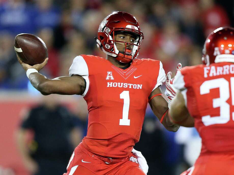 MUST-SEE GAMENo. 15 UH vs. No. 3 Oklahoma, 11 a.m. Saturday (ABC)This is a huge statement game for the Cougars and arguably their biggest regular-season contest since Sept. 12, 1991, at No. 2 Miami. That debacle in the Orange Bowl began UH's slide into national irrelevance.The Cougars are back in the national picture now, and a win over the Sooners could go a long way to helping UH become the first non-Power 5 school in the College Football Playoff. It's hard to downplay the importance of this game from a UH perspective. Photo: Elizabeth Conley, Staff / © 2015 Houston Chronicle