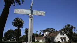 The Treasure Island Chapel sits on the proposed site of the Lucas Museum of Narrative Art at the intersection of Ave. of the Palms and California Ave. on Treasure Island in San Francisco, California, on Wed. Aug. 3,  2016.