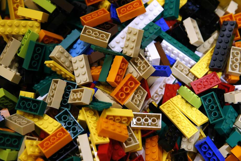 An assortment of building blocks are displayed in a bin in the new Lego store at Westfield SF Centre shopping mall in San Francisco, Calif. on Aug. 26, 2016. Photo: Paul Chinn, The Chronicle