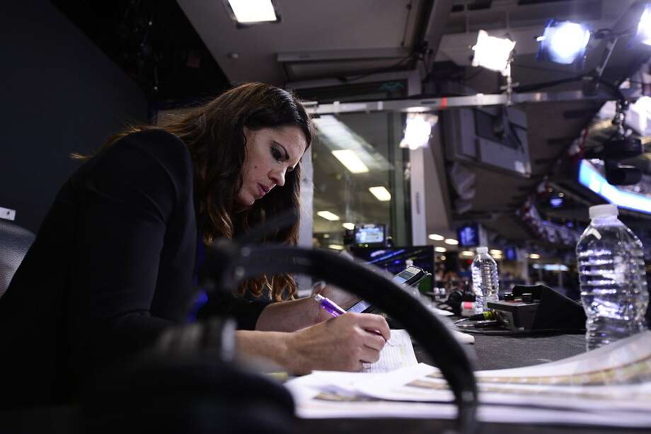 Jessica Mendoza, an ESPN analyst on Sunday night games, was a softball first-team All-American for four years at Stanford and won gold and silver medals in the Olympics. Photo: Ben Solomon / ESPN Images, ESPN