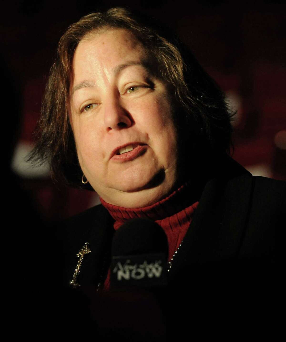 New York State Senator Liz Krueger talks to the press after Gov. Andrew Cuomo delivered his budget proposal for fiscal year 2013-14 in the Hart Theater in The Egg on Tuesday, Jan. 22, 2013, in Albany, N.Y. (Lori Van Buren / Times Union archive)