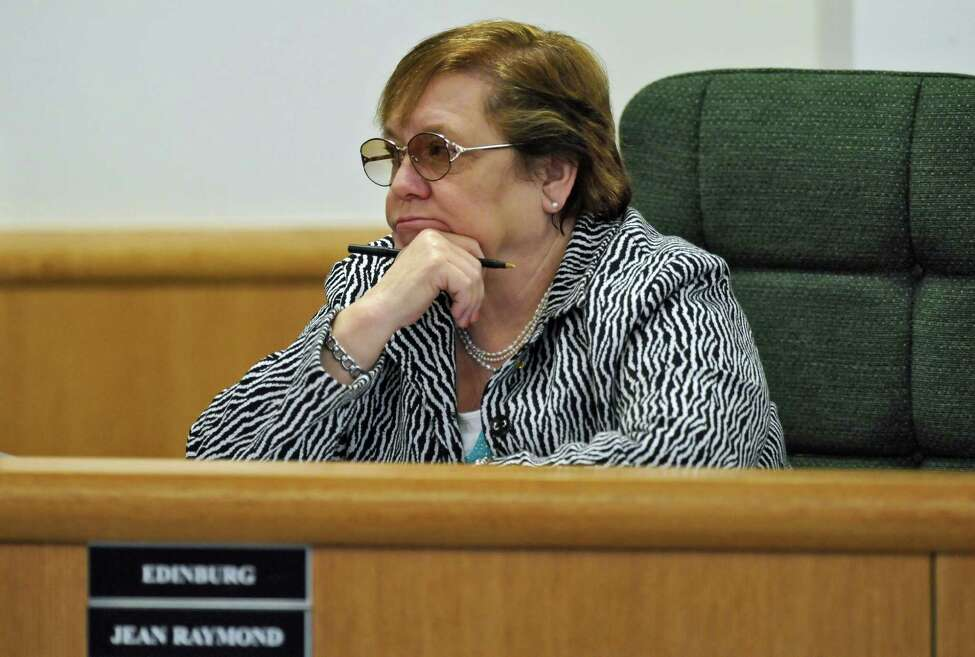 Edinburg supervisor Jean Raymond during the Saratoga County Board of Supervisors swearing in ceremony and meeting on Tuesday Jan. 3, 2012, in Ballston Spa, N.Y (Philip Kamrass / Times Union archive)