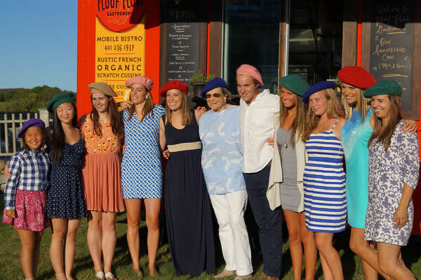 At a recent festival, an entire extended family arrived at the Ploof Ploof mobile bistro wearing French-style berets. The Rhode Island French food truck will visit Mohegan Sun on Labor Day Weekend.