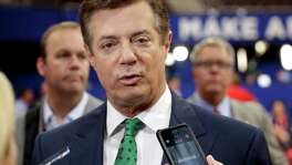 Emails obtained by rhw Associated Press shed new light on the activities of a firm run by Donald Trump's campaign chairman, Paul Manafort (above). They show it directly orchestrated a covert lobbying operation on behalf of Ukraine's ruling political party, attempting to sway American public opinion in favor of the country's pro-Russian government. Manafort and his deputy never disclosed their work as required under federal law.
