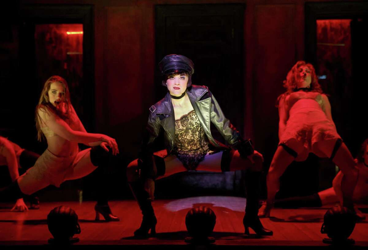 """Andrea Goss (center) plays Sally Bowles in the national tour of """"Cabaret,"""" which is comig to the Majestic Theatre."""