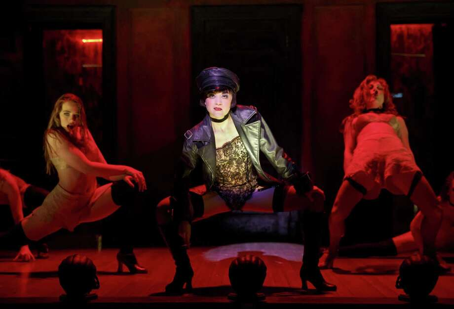 "Andrea Goss (center) plays Sally Bowles in the national tour of ""Cabaret,"" which is comig to the Majestic Theatre. Photo: Joan Marcus /Courtesy Photo / ©201 Joan Marcus"
