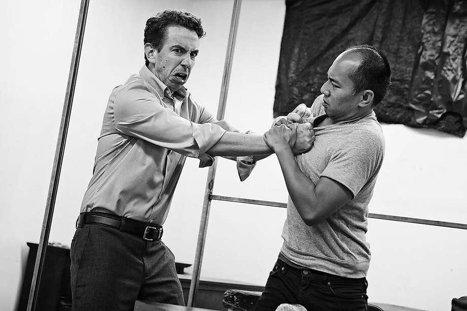 Bob (Mick Mize) andLin Bo (Jomar Tagatac). Photo: Pak Han, Shotgun Players