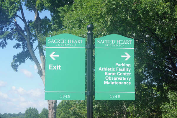 Signs at Sacred Heart Greenwich.