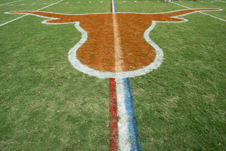 AUSTIN, TX - SEPTEMBER 2:  The Texas Longhorns logo is shown before play between the Texas Longhorns and the North Texas Eagles on September 2, 2006 at Texas Memorial Stadium in Austin, Texas. The Longhorns defeated the Eagles 56-7. (Photo by Ronald Martinez/Getty Images) Photo: Ronald Martinez/Getty Images