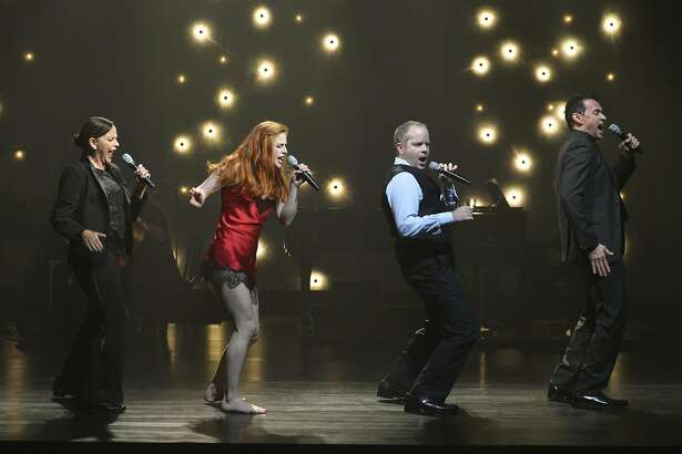 Sally Ann Triplett (left), Teal Wicks, Damian Humbley and Andrew Lippa�sing their hearts out.
