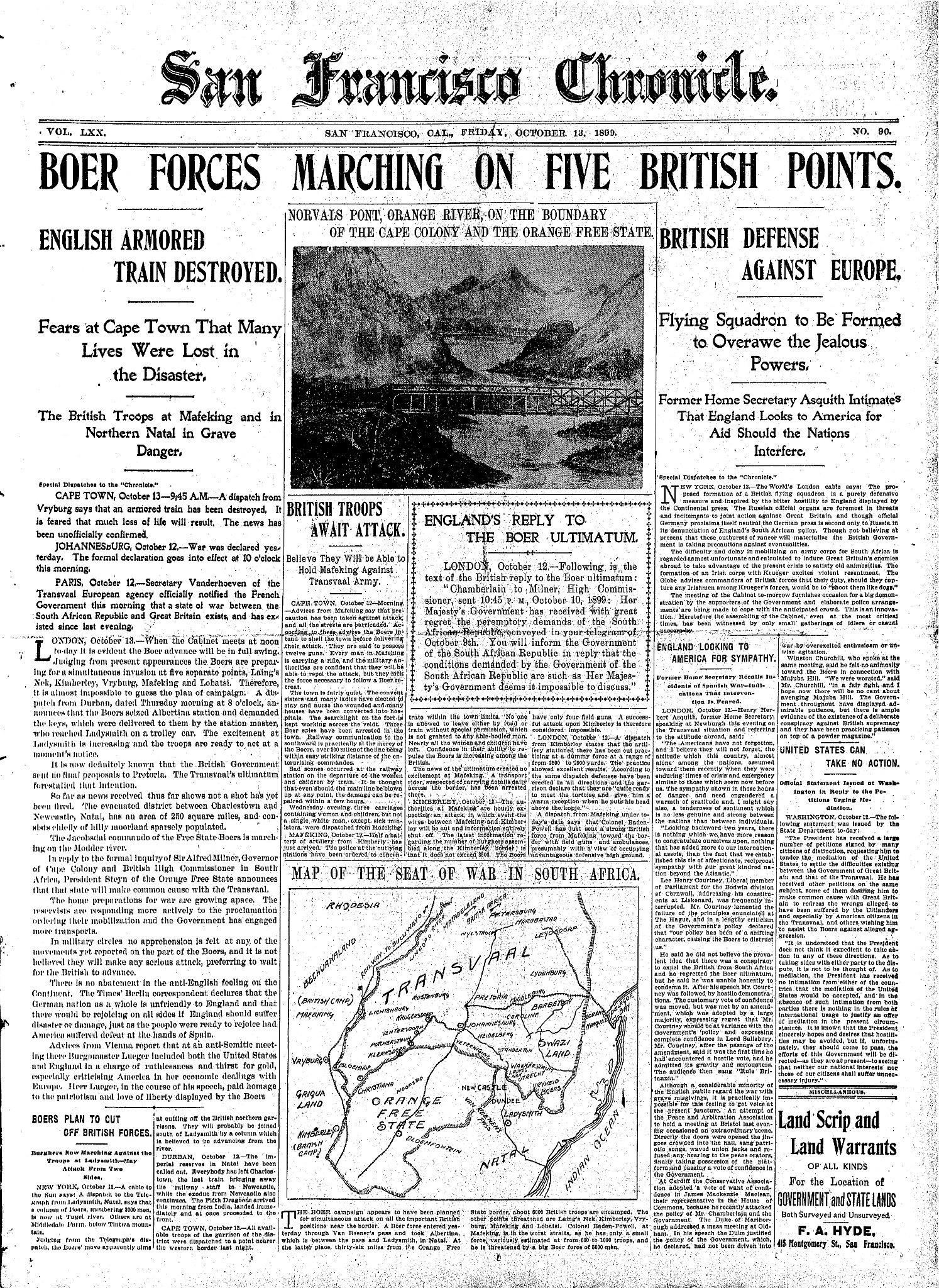 a report on how the english won the boer war in south africa