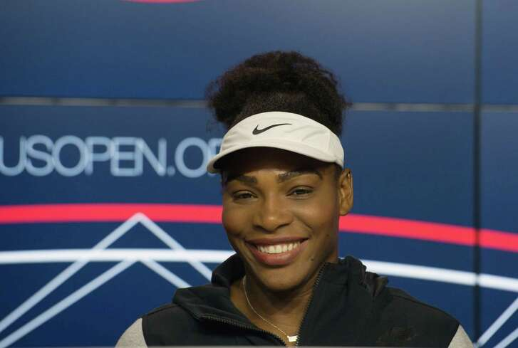 Serena Williams speaks during a media availability for the U.S. Open at the Billie Jean King National Tennis Center, Friday, Aug. 26, 2016, in New York. (AP Photo/Bryan R. Smith)