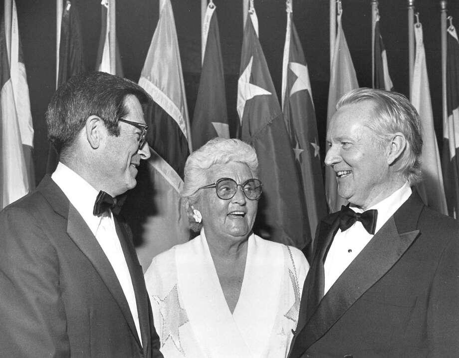 03/19/1987 - Henry Lartigue, Ruth Denney and Joseph Glasco Photo: Steve Campbell, HC Staff / Houston Chronicle