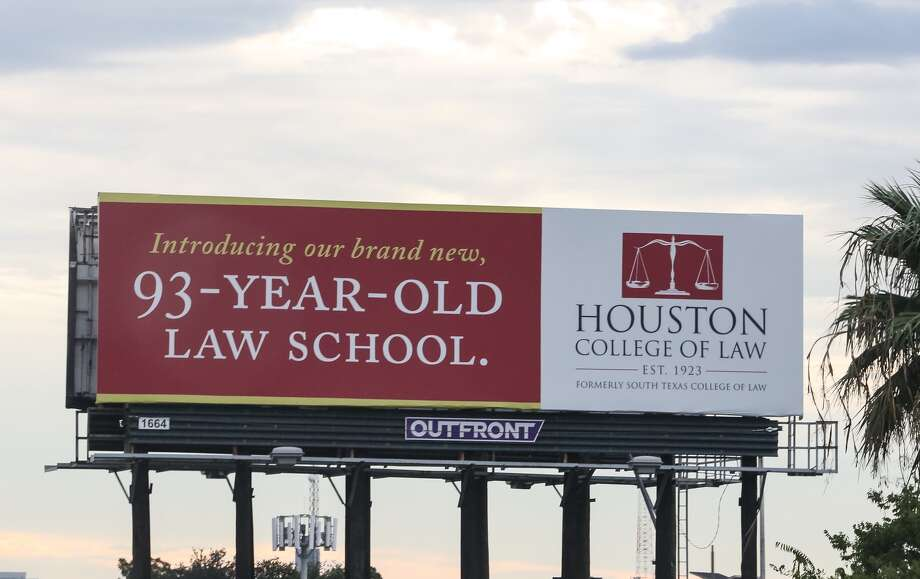 A billboard advertising the Houston College of Law, now known as South Texas College of Law Houston, is shown.Keep going for a look at the most selective law schools in America.  Photo: Yi-Chin Lee, Chronicle
