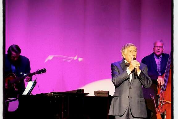 Singer Tony Bennett celebrates his 90th birthday with a benefit concert in the Fairmont Hotel's Venetian Room. August 2016