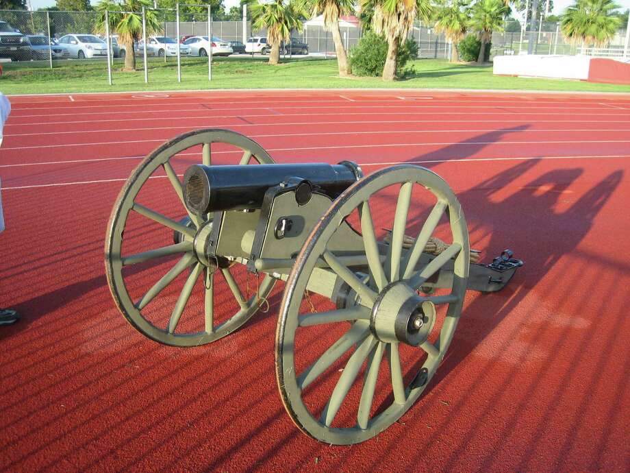 A replica Howitzer cannon, dubbed El Capitan, serves as the trophy awarded to the team winning the season series between the Dynamo and FC Dallas. Photo: James Hromadka / handout email