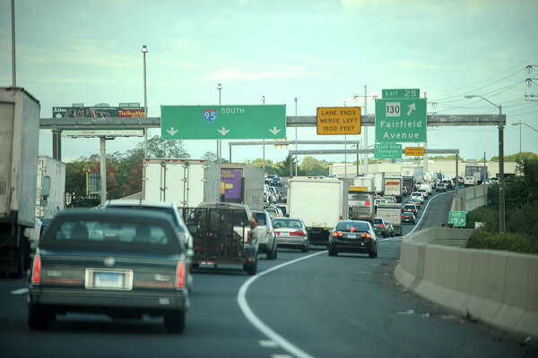Traffic is bumper-to-bumper on I-95 southbound in Bridgeport during the morning commute on Thursday, September 26, 2013.