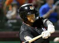ValleyCats Kevin Martir swings at the ball during their baseball game against Lowell Spinners on Friday, Aug. 26, 2016, at Joe Bruno Stadium in Troy, N.Y. (Cindy Schultz / Times Union)
