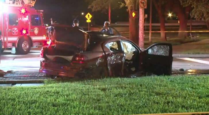 A man allegedly fired shots near a Midtown club late Friday, August 27, 2016, and then crashed his car after police chased him on Fannin.