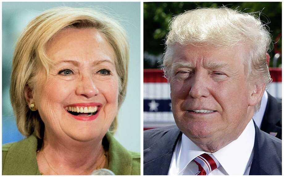 Democratic presidential candidate Hillary Clinton, left, and Republican presidential candidate Donal Trump in these 2016 file photos. Clinton and Trump offer voters distinct choices this fall on issues that shape everyday lives. Actual ideas are in play, as difficult as it can be to see them through the surreal layers of the 2016 presidential campaign. But decisions to be made by President Trump or President Clinton are going to matter to home and hearth. (AP Photo) ORG XMIT: WX301 / AP
