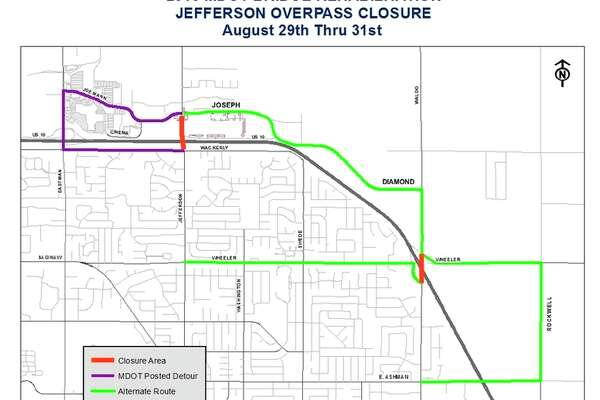 The Jefferson Avenue overpass project.