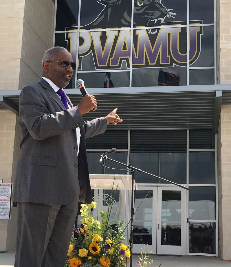 FILE - Prairie View A&M president George C. Wright speaks in front of the school's stadium on Aug. 27, 2016. The Texas A&M University System's campus carry policies are up for review on Thursday. Photo: Brent Zwerneman / Houston Chronicle