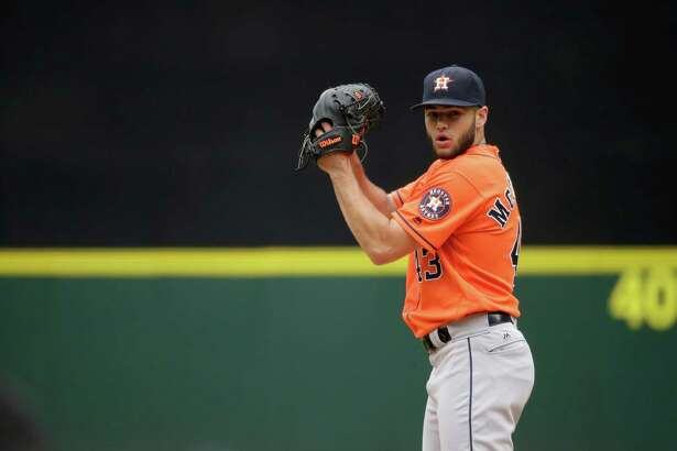 Houston Astros starting pitcher Lance McCullers throws against the Seattle Mariners in the first inning of a baseball game, Saturday, July 16, 2016, in Seattle. (AP Photo/Ted S. Warren)