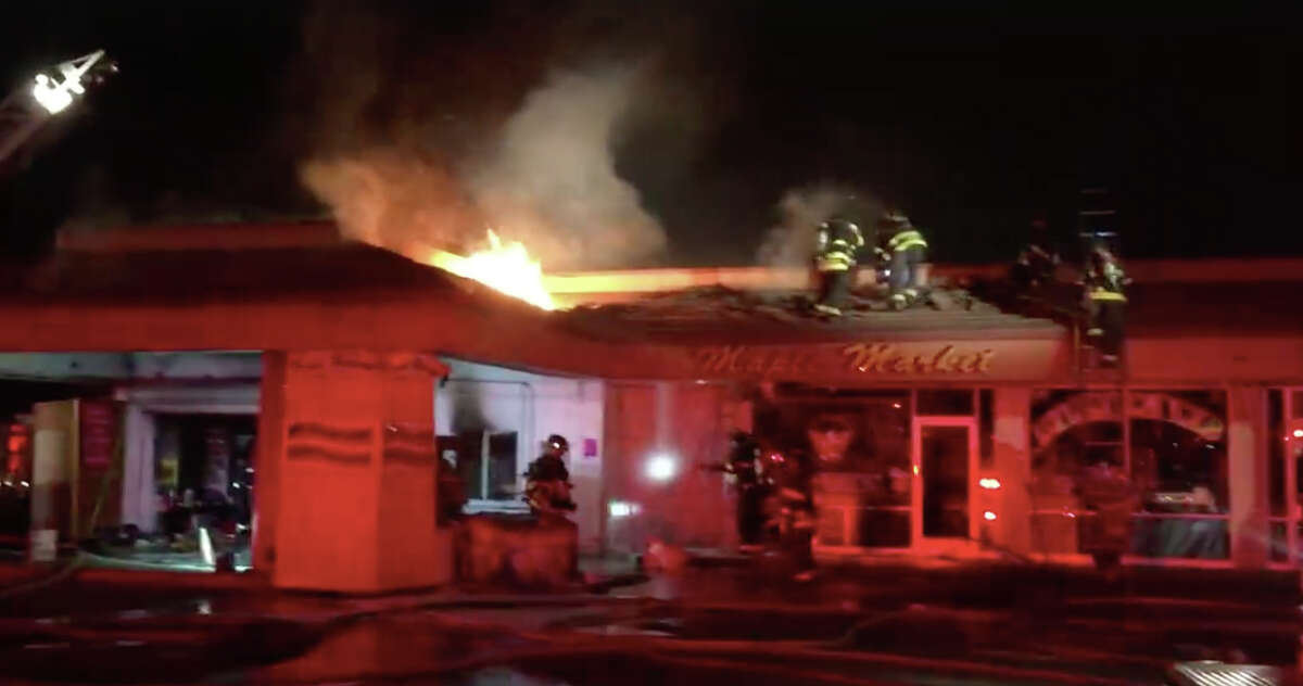 Firefighters in Livermore responded to a fire early Saturday that destroyed a small market.
