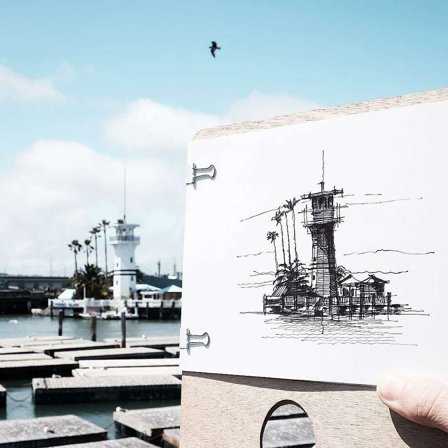 A sketch by architect Dan Hogman, who draws the buildings of San Francisco in his spare time. He shares the sketches (along with his photography and videos) on his Instagram, @danhogman. Photo: Courtesy Dan Hogman