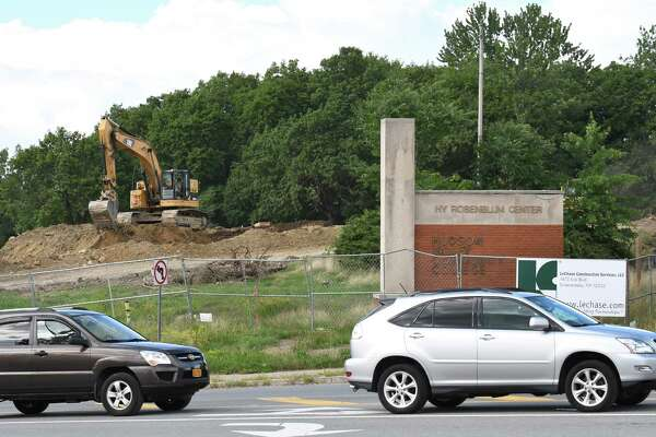 Construction project at HVCC for the College's first-ever dorm at Morrison Avenue and Vandenburgh on Thursday Aug. 18, 2016 in Troy, N.Y. (Michael P. Farrell/Times Union)