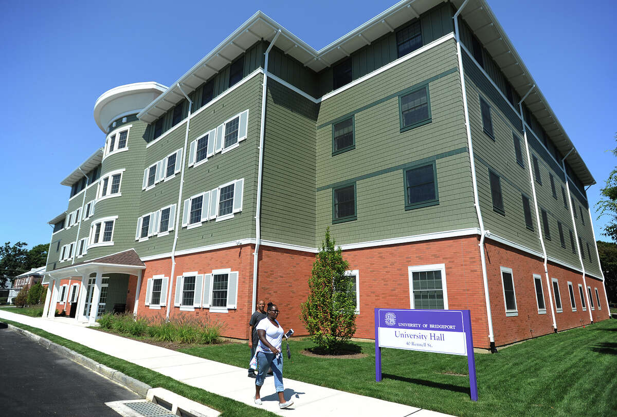The University of Bridgeport's new University Hall dormitory at 40 Rennell St.
