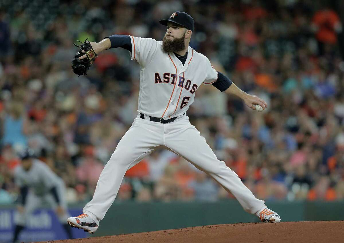 Dallas Keuchel displays his winning form for the third time in four starts Saturday night. The Astros lefthander gave up two runs on nine hits in seven innings.