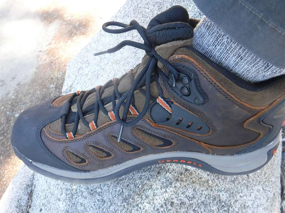 Brand-new hiking boots hit the trail for a first time: If you find outdoor gear that works great from you, then buy two or three more -- �in the mission to create a new look, companies often discontinue products that made them successful in the first place. Photo: Tom Stienstra, Tom Stienstra / The Chronicle