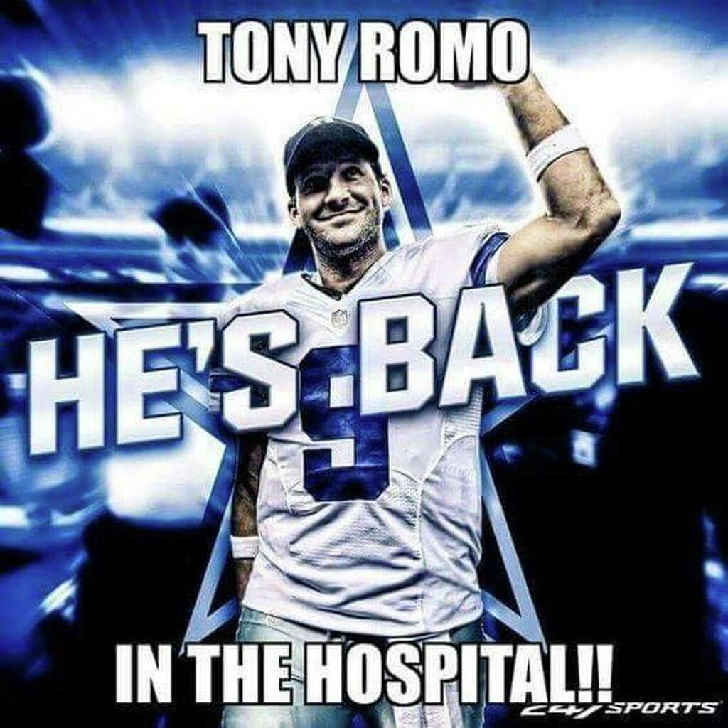 1024x1024 social media, memes roast tony romo and his latest injury,Tony Romo Memes