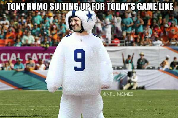 Users on social media sites broke out their best memes to poke fun at Tony Romo's latest injury.