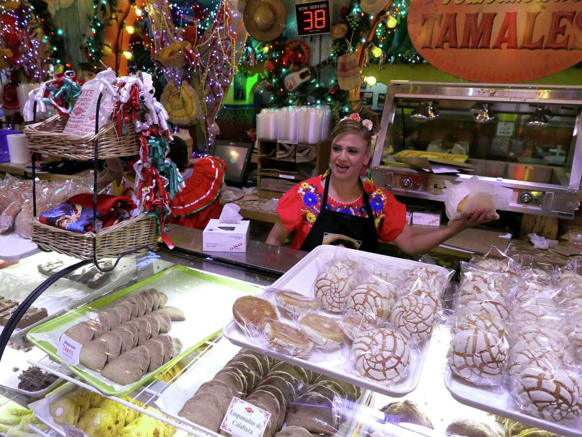 Luz Arredondo works in the bakery at Mi Tierra restaurant, which has been in downtown San Antonio for 75 years.