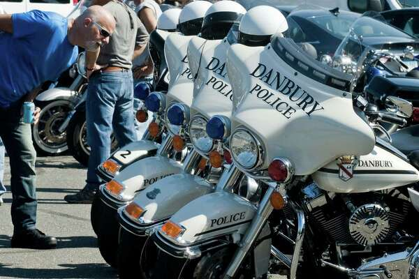 The Danbury Police escort for The Dream Ride Experience motorcycle ride benefiting Special Olympicans on Sunday.