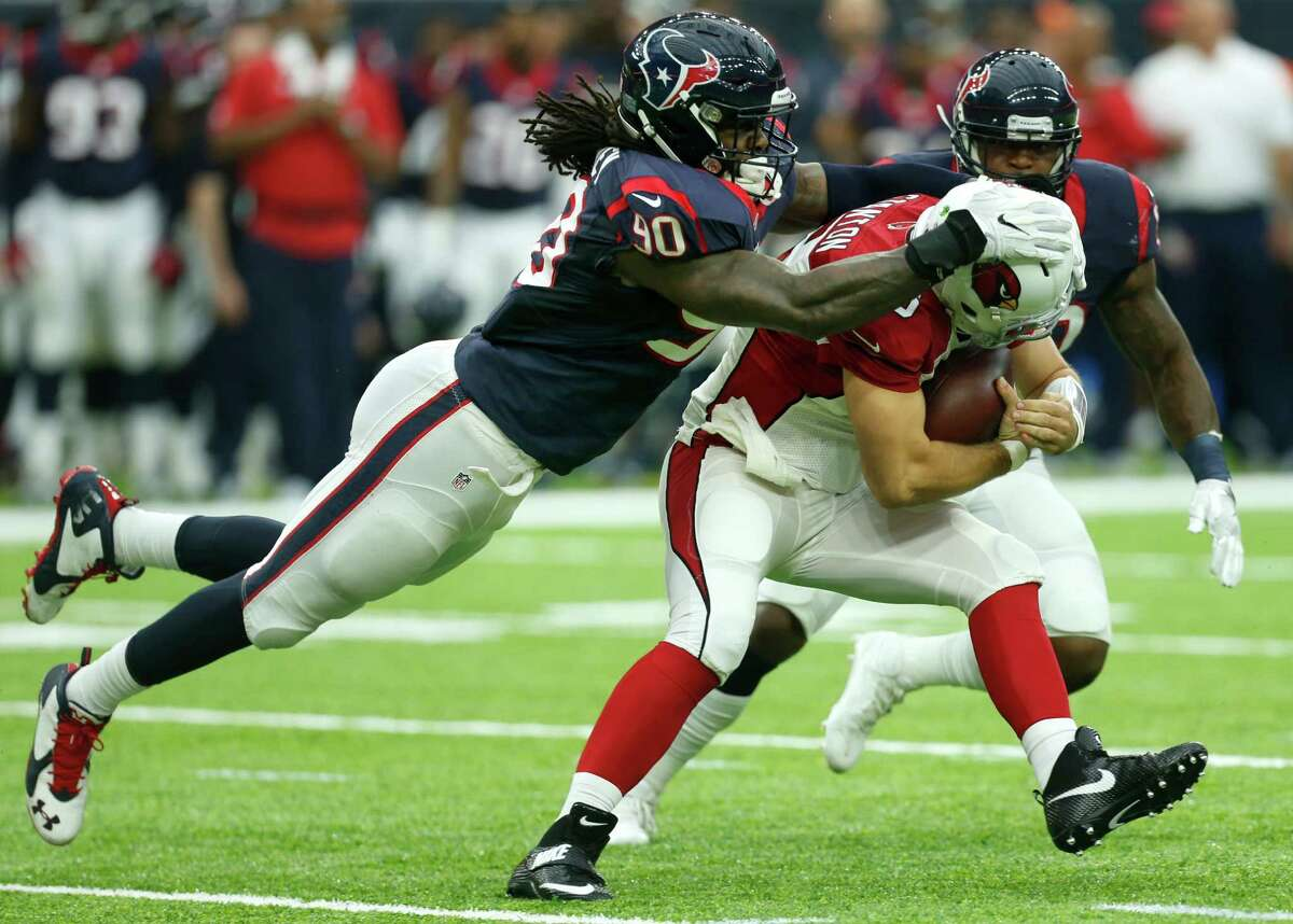 TEXANS-CARDINALS REWIND Five Up Jadeveon Clowney Healthy again, the former top overall pick of the draft was relentless in pursuit and racked up three tackles. He still needs to refine his pass-rushing repertoire to include more counter moves.