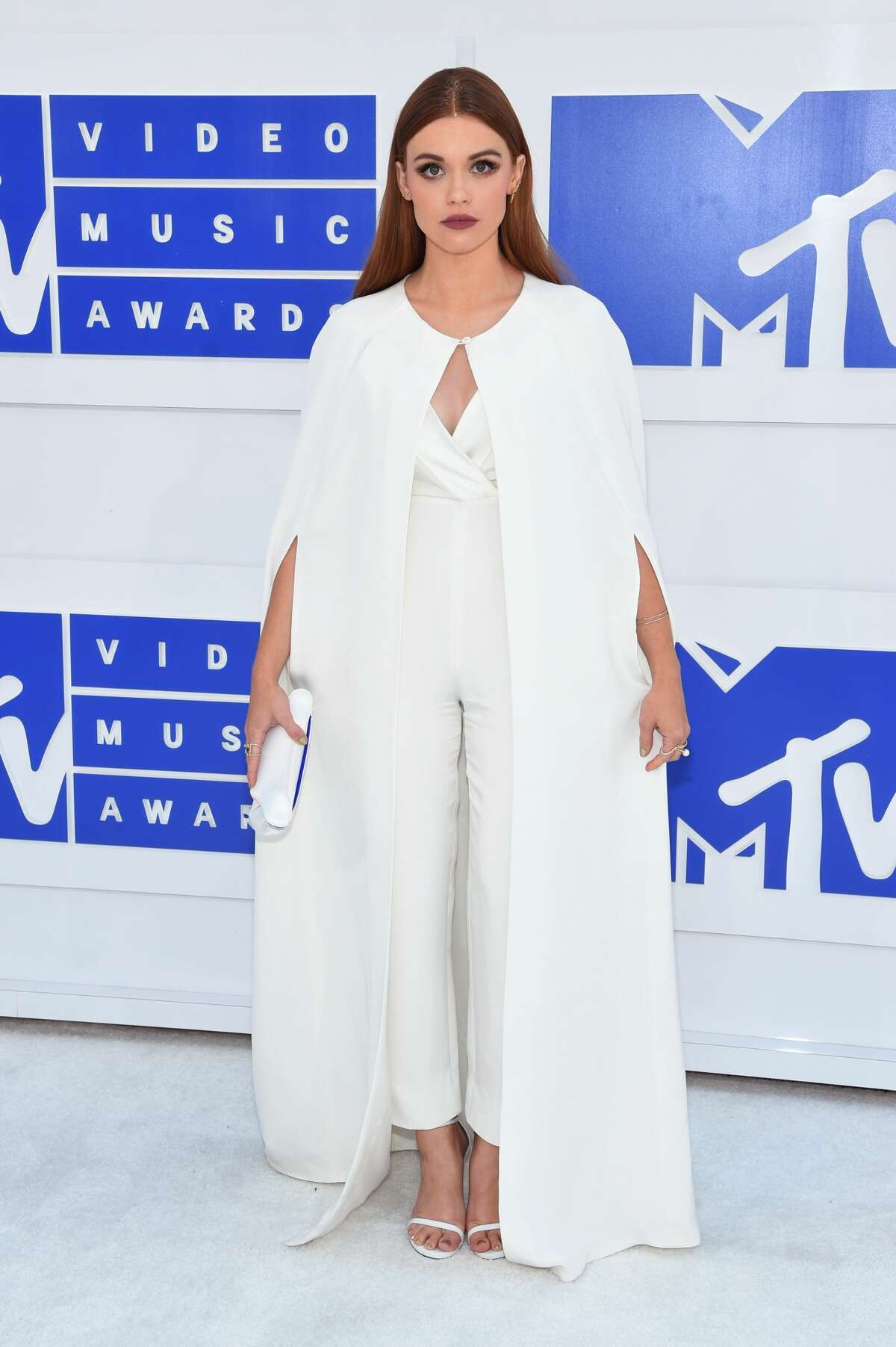 Best: Holland Roden  White jumpsuit-cloak thing that. oddly, works. At the VMAs, anyway.